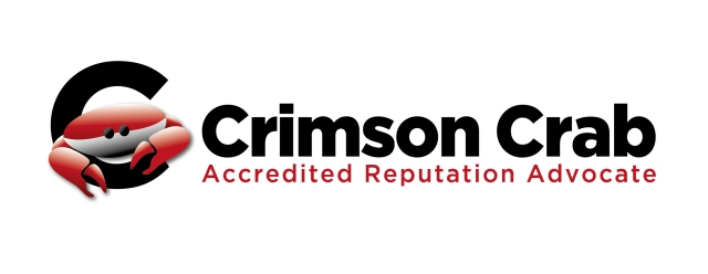 Accredited Crimson Crab Reputation Advocate Logo